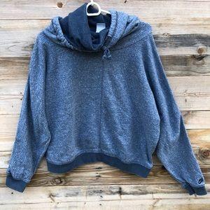 Nike | Cowl Neck Hoodie Cropped Sweatshirt XL